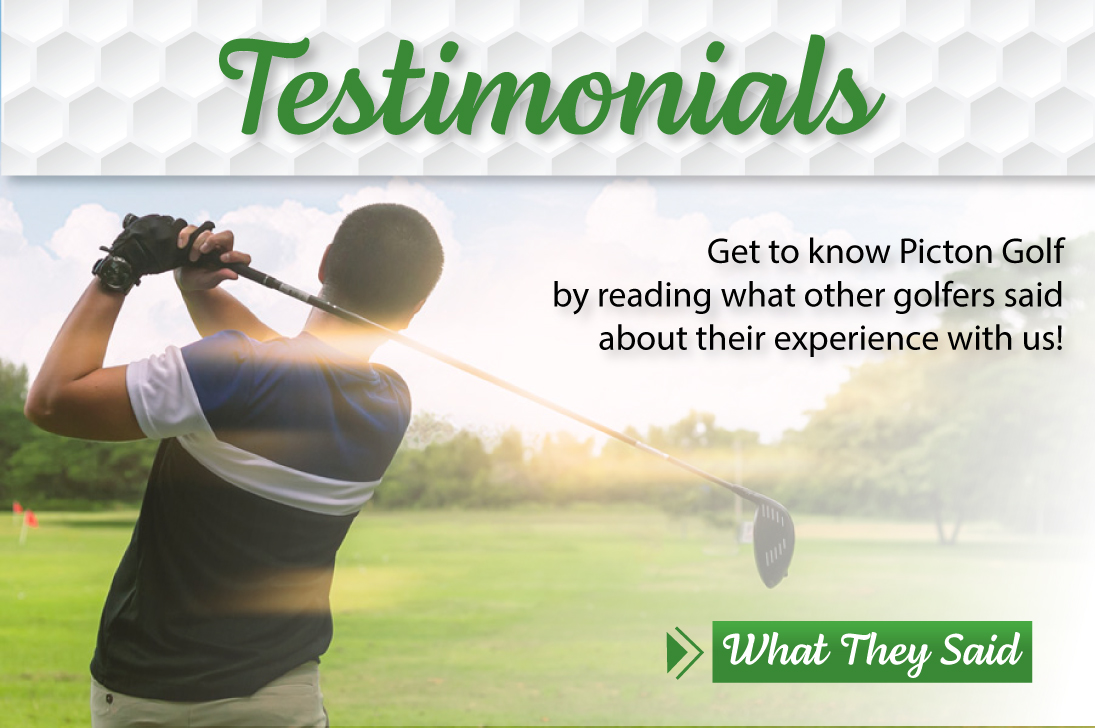 Picton Golf and Country Club Testimonials