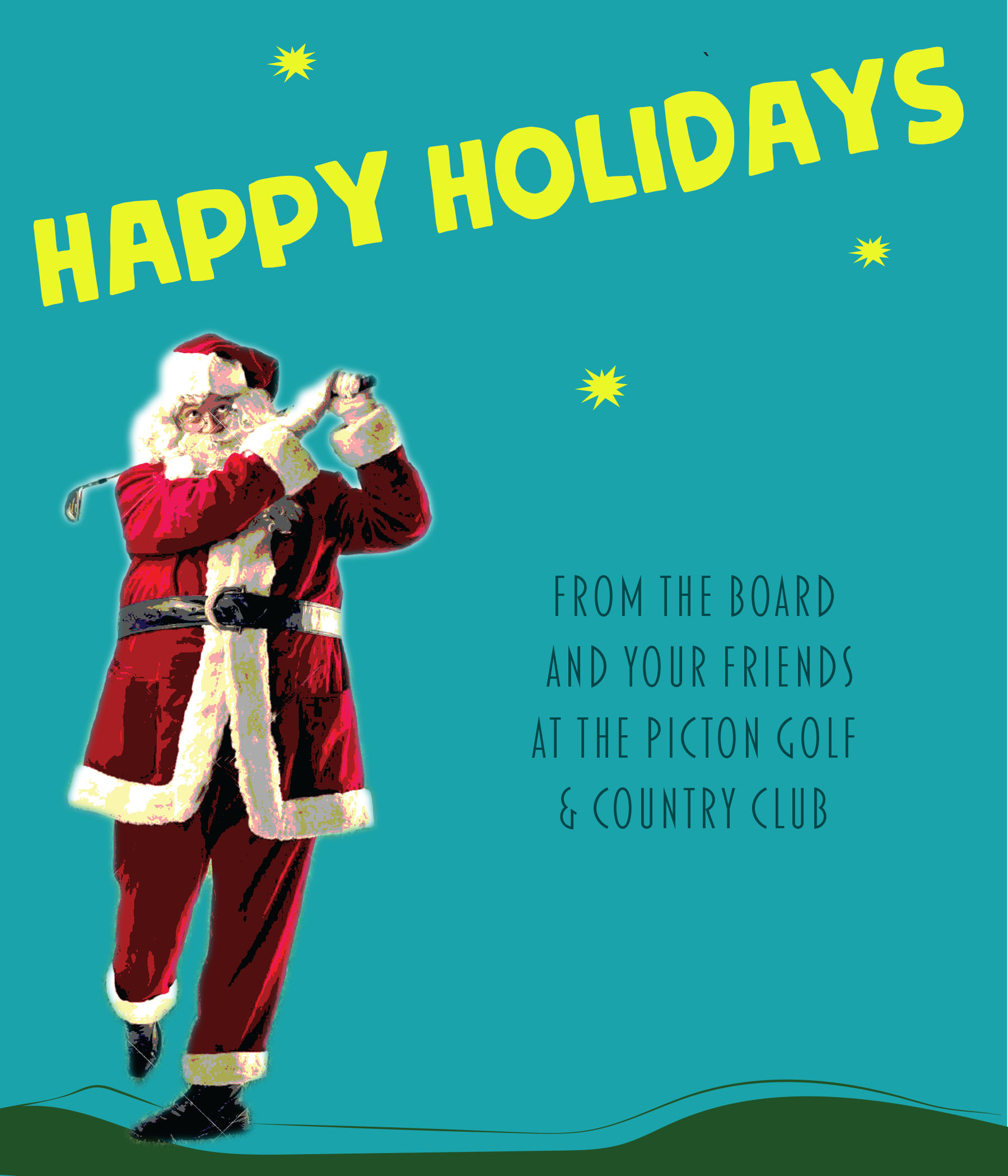 PIcton Golf Happy Holidays from Picton Golf